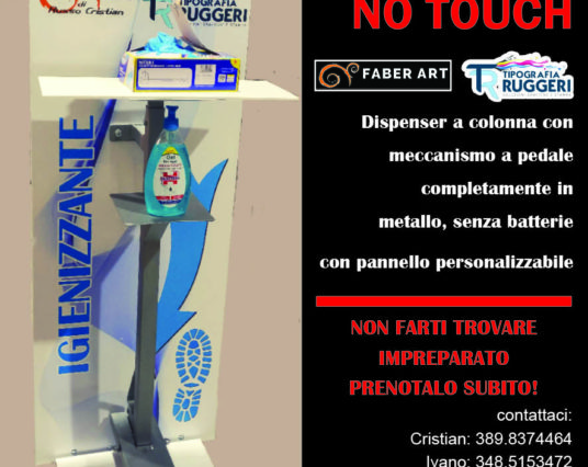 Colonna per dispenser igienizzante con pedale no touch